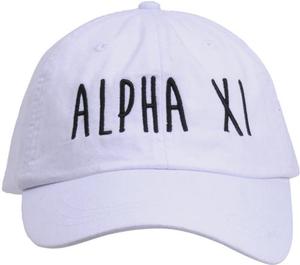 Jagged Font Hat - alpha xi