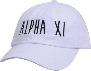Jagged Font Hat - alpha xi