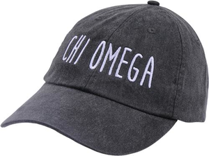 Jagged Font Hat - chi omega
