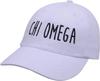 Jagged Font Hat - chi omega image 1
