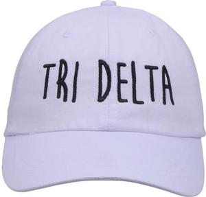 Jagged Font Hat - tri delta