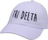 Jagged Font Hat - tri delta image 1