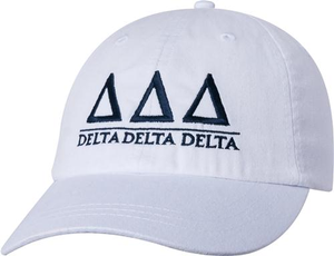 Greek Letters Hat - tri delta