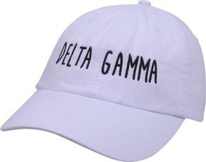 Jagged Font Hat - delta gamma