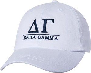 Greek Letters Hat - delta gamma