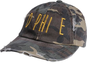Jagged Font Hat - d phi e