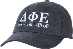 Greek Letters Hat - d phi e