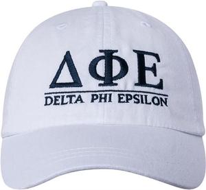 Greek Letters Hat - d phi e