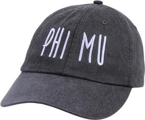 Jagged Font Hat - phi mu
