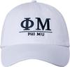 Greek Letters Hat - phi mu image 2