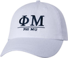 Greek Letters Hat - phi mu image 1