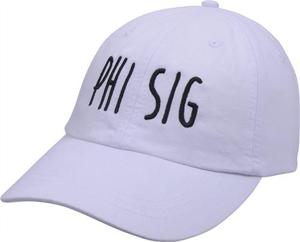 Jagged Font Hat - phi sig