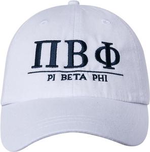 Greek Letters Hat  - pi phi