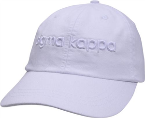 3D Embroidery Hat - sigma kappa