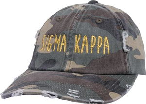 Jagged Font Hat - sigma kappa