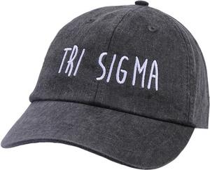 Jagged Font Hat - tri sigma