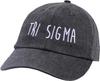 Jagged Font Hat - tri sigma image 1
