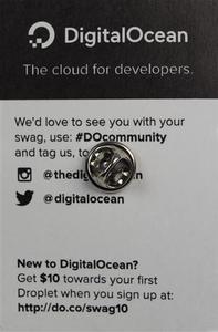 DigitalOcean Logo Pin