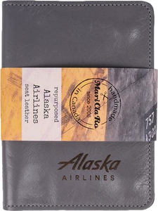 Mari Cla Ro Recycled Seat Leather Passport Wallet