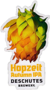 "Beer Logo 1.96"" x 3.5"" Sticker: Hopzeit"