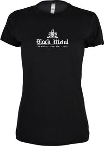 Women's Black Metal Tee