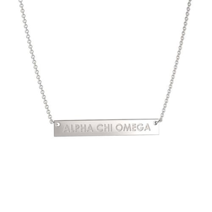 Nava New York Infinity Bar Necklace - Alpha Chi Omega