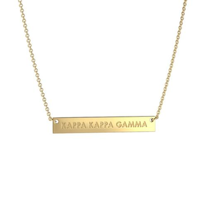 Nava New York Infinity Bar Necklace - Kappa Kappa Gamma
