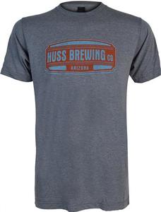 Huss Brewing Blue & Orange Shield Unisex Tee