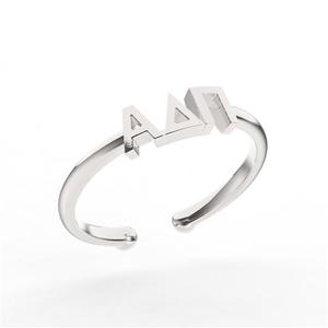 Nava New York Thin Band Letter Ring - Alpha Delta Pi