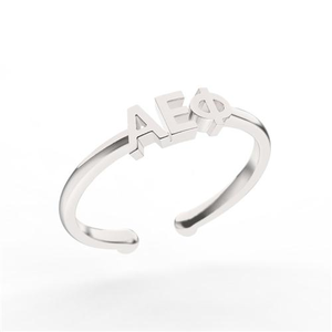 Nava New York Thin Band Letter Ring - Alpha Epsilon Phi