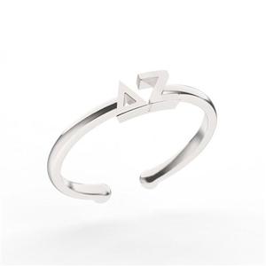 Nava New York Thin Band Letter Ring - Delta Zeta