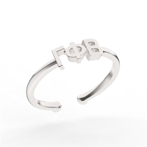 Nava New York Thin Band Letter Ring - Gamma Phi Beta
