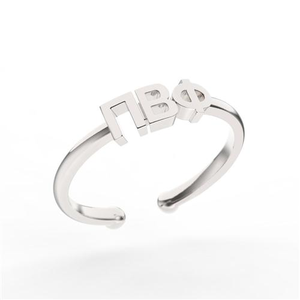Nava New York Thin Band Letter Ring - Pi Beta Phi