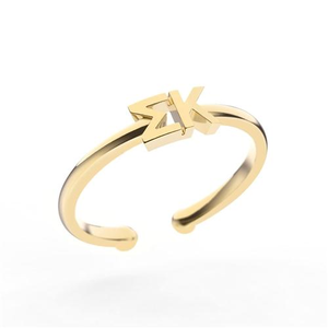 Nava New York Thin Band Letter Ring - Sigma Kappa
