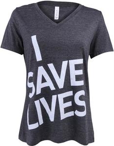 I Save Lives Tee Women's V-Neck