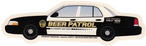 Cop Car Sticker