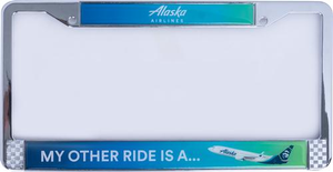 Alaska Airlines Metal License Plate