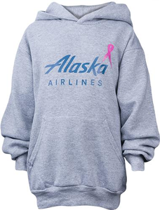 Youth Breast Cancer Awareness Hooded Sweatshirt