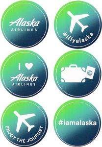 Alaska Airlines Icon Sticker Sheet
