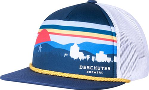 Deschutes Brewery Roanoke Sky Line Foam Trucker Hat