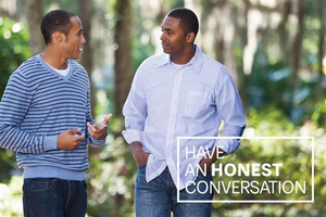 Have an Honest Conversation Postcard – Father and Son