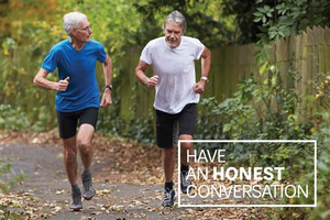 Have an Honest Conversation Postcard – Two Older Men