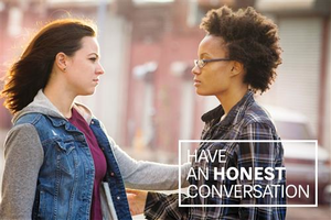 Have an Honest Conversation Postcard – Two Women