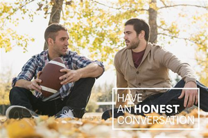 Have an Honest Conversation Postcard – Two Men