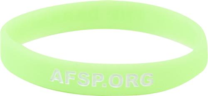 Neon Green Out of the Darkness Wristband