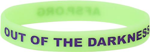 Neon Green and Purple Out of the Darkness Wristband (Pack of 10)