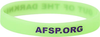 Neon Green and Purple Out of the Darkness Wristband (Pack of 10) image 2