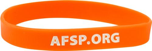 Orange Out of the Darkness Wristband