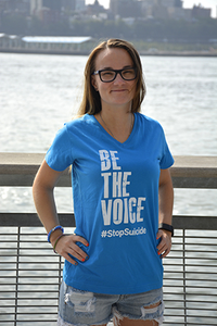 Women's Cyan Be the Voice V-Neck