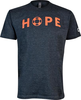 Unisex Charcoal HOPE Crewneck with Poppy Lettering image 1